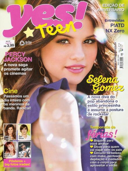 Selena Gomez was recently on the cover for Brazil's magaine Yes! Teen.